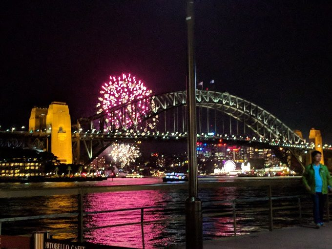 Fireworks over the Sydney Harbor Bridge