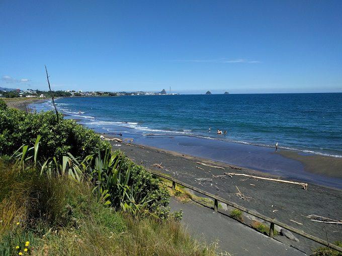 Fitzroy Beach in New Plymouth, NZ