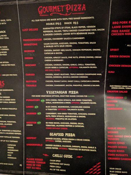 Hell Pizza menu - 2