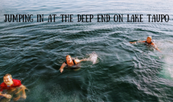 Jumping In At The Deep End On Lake Taupo
