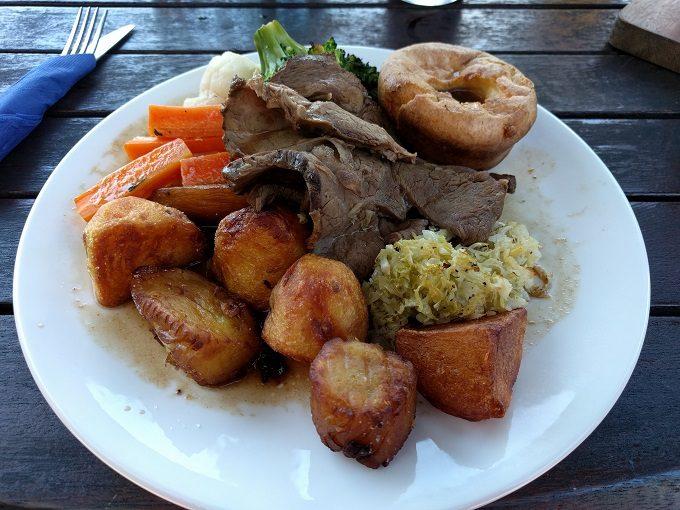 Peggy Gordon's Celtic Bar - full roast beef dinner