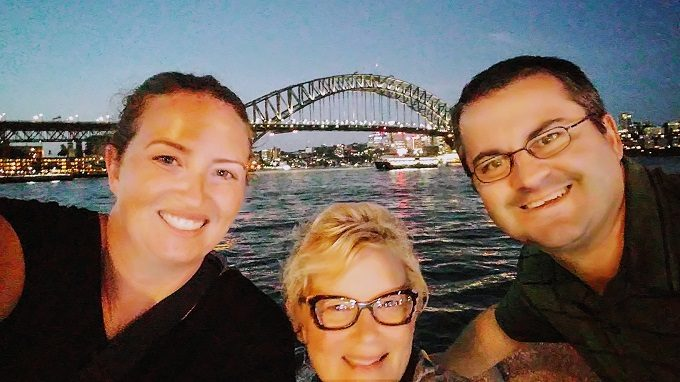 Us at the Sydney Harbor Bridge