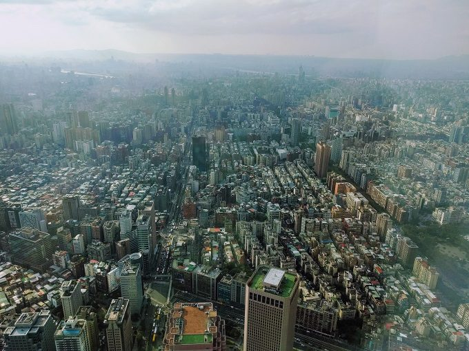 View from 89th floor of Taipei 101