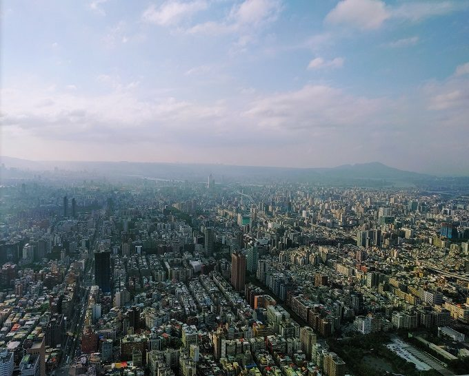 View from 91st floor of Taipei 101