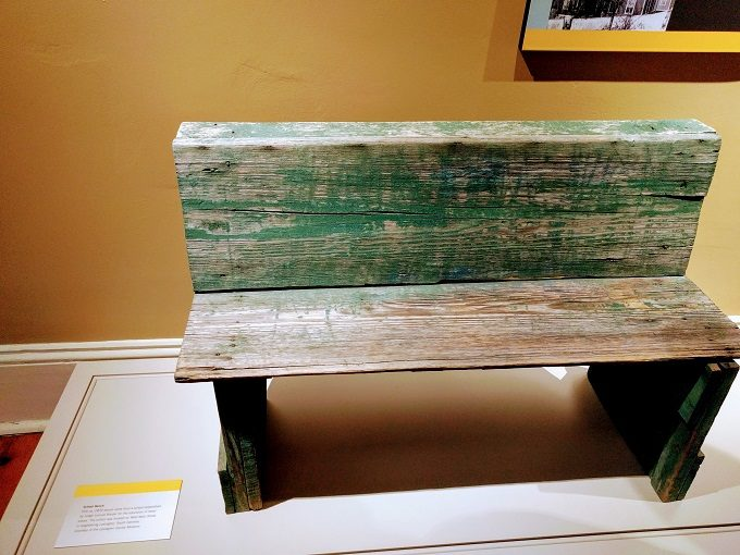 1870s bench from school for freed slaves