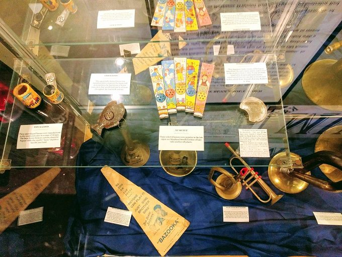 All kinds of different kazoos at the Kazoobie Kazoo Museum