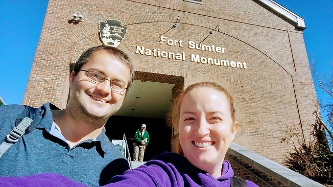 Arriving at the Fort Sumter Visitor Center in downtown Charleston