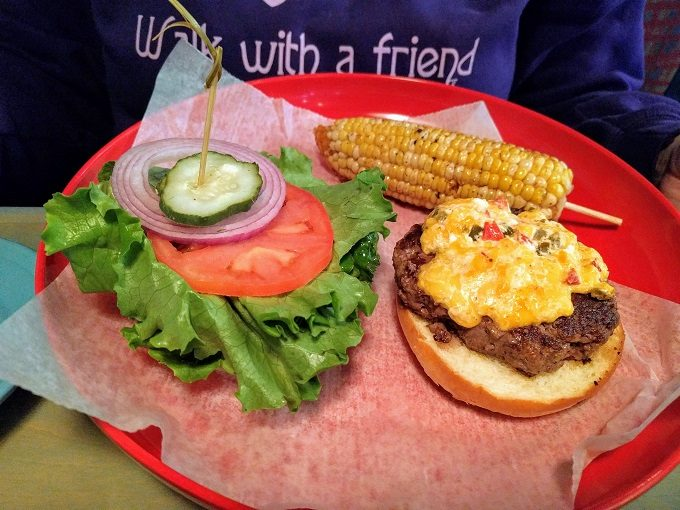 Big Billy's Burger Joint Bison burger with pimento cheese