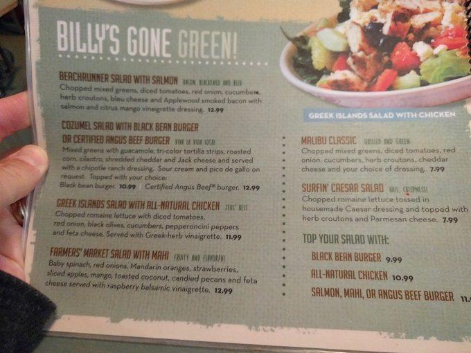 Big Billy's Burger Joint Salads