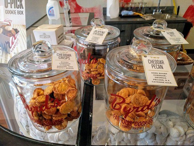 Cheddar Crisps, Jalapeno Cheddar, Cheddar Pecan & Benne Bits