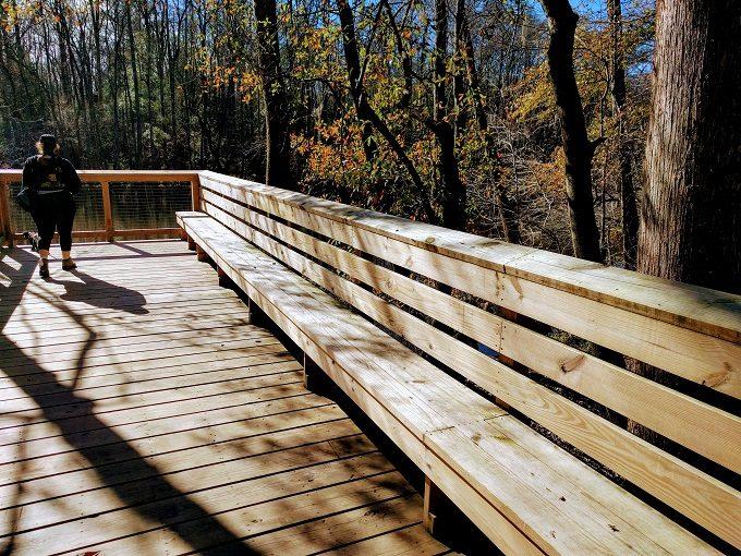 Elevated boardwalk by Weston Lake