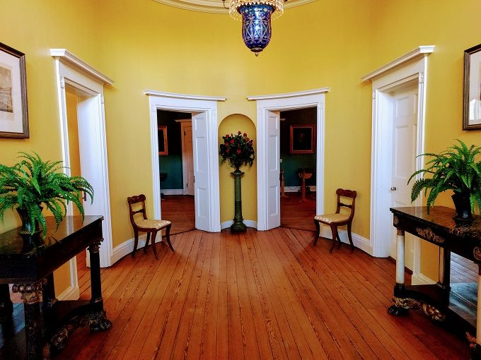 Entrance hall of the Robert Mills House