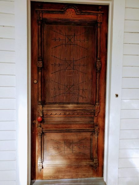 Front door of the Mann-Simons Site