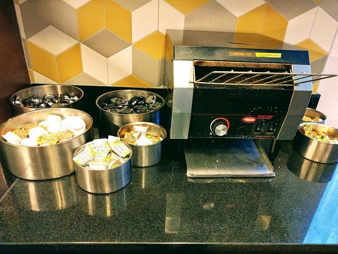 Hyatt Place Columbia-Harbison breakfast - toaster, jams, etc
