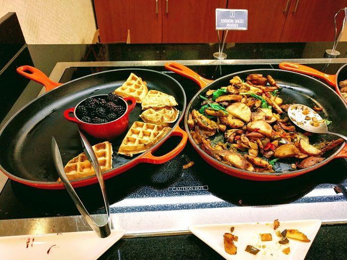 Hyatt Place Columbia-Harbison breakfast - waffles and potatoes