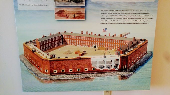 Image of what Fort Sumter used to look like