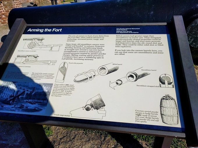Information board at Fort Sumter