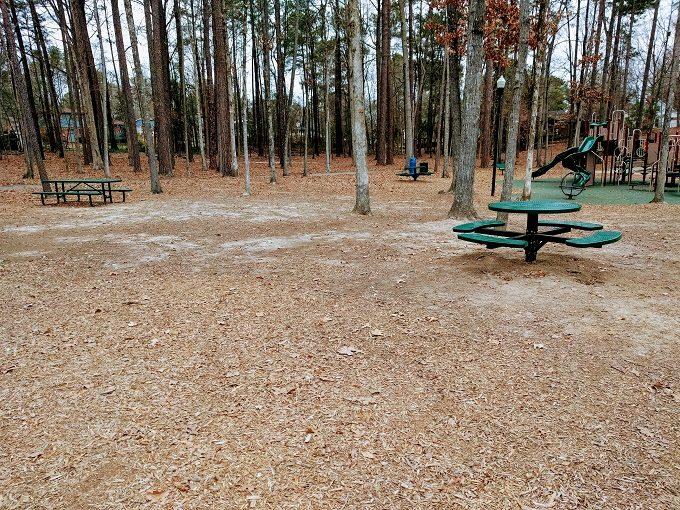 Irmo Community Park picnic tables