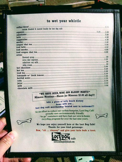 Lost Dog Cafe menu - Soft drinks
