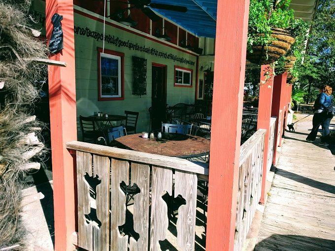 Lost Dog Cafe patio area