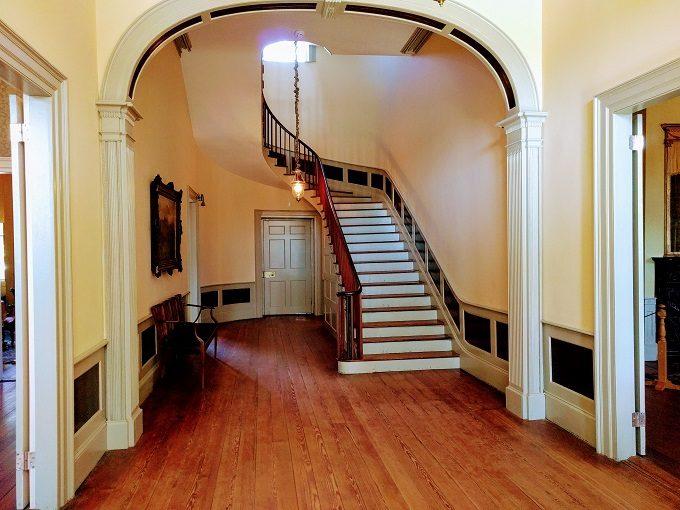 Main hallway entrance of Hampton-Preston House