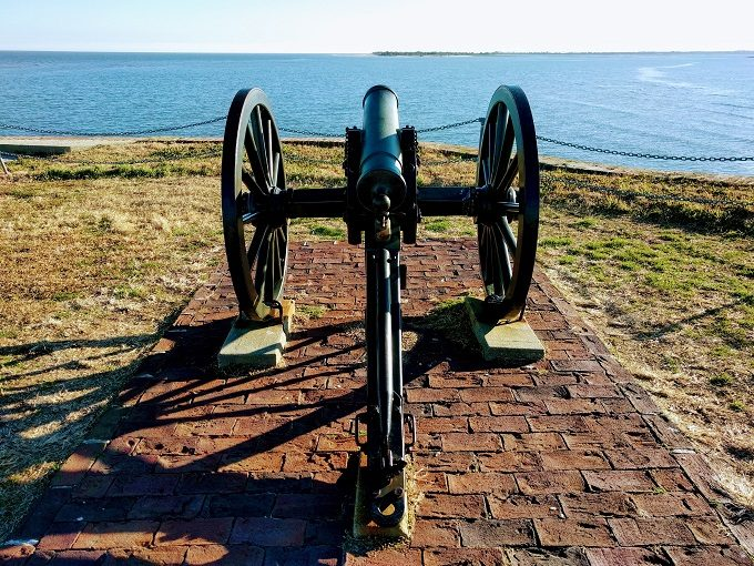 Mountain howitzer at Fort Sumter
