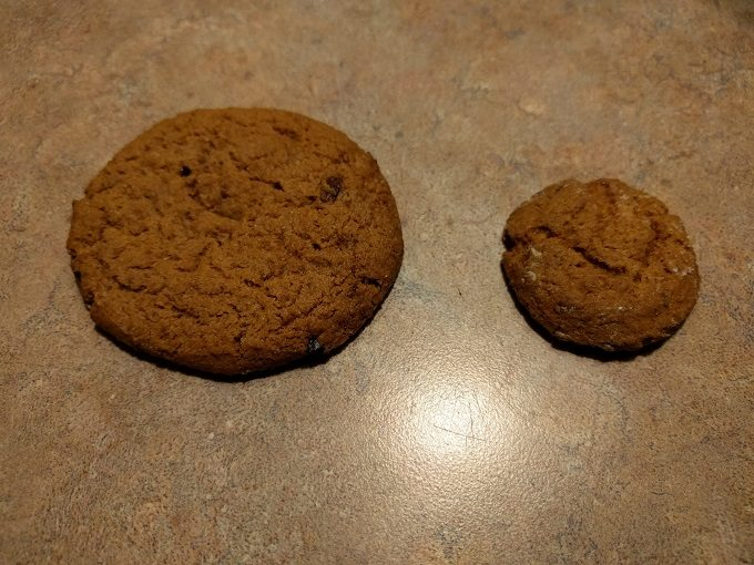 Regular-sized cookie vs sample-sized cookie