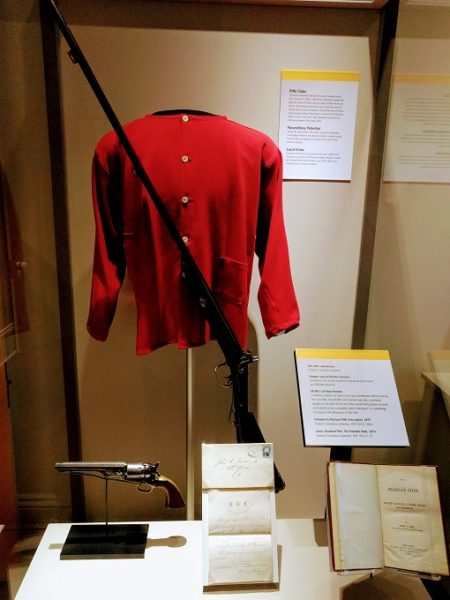 Reproduction Red Shirt, shotgun used at massacre and more