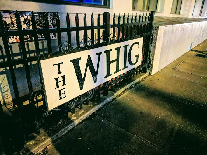 Sign for The Whig