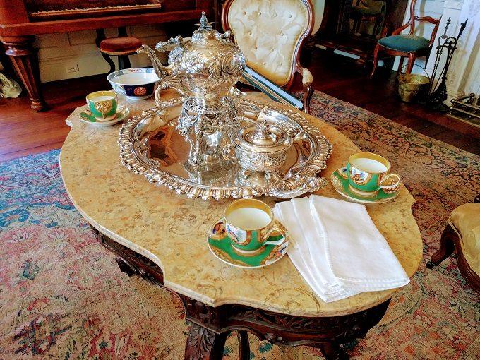 Silver tea serving set