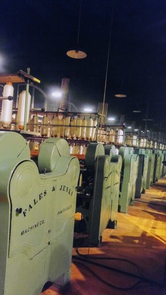 Textile mill machinery at the South Carolina State Museum