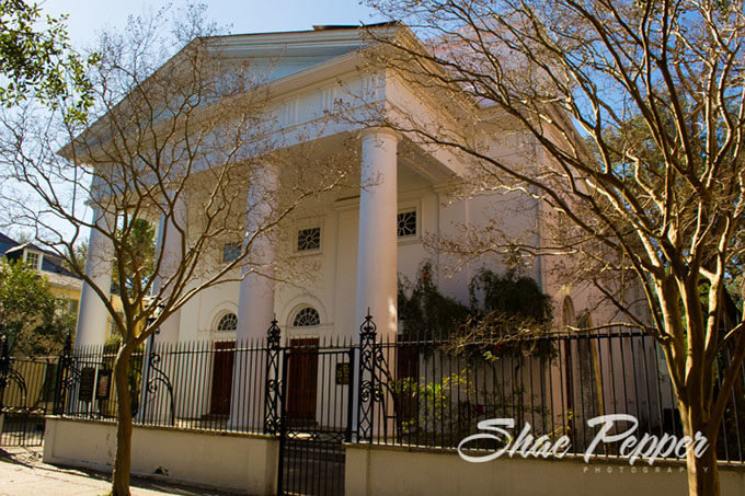 The First Baptist Church in downtown Charleston SC