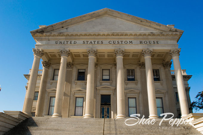 The United States Custom House in downtown Charleston SC