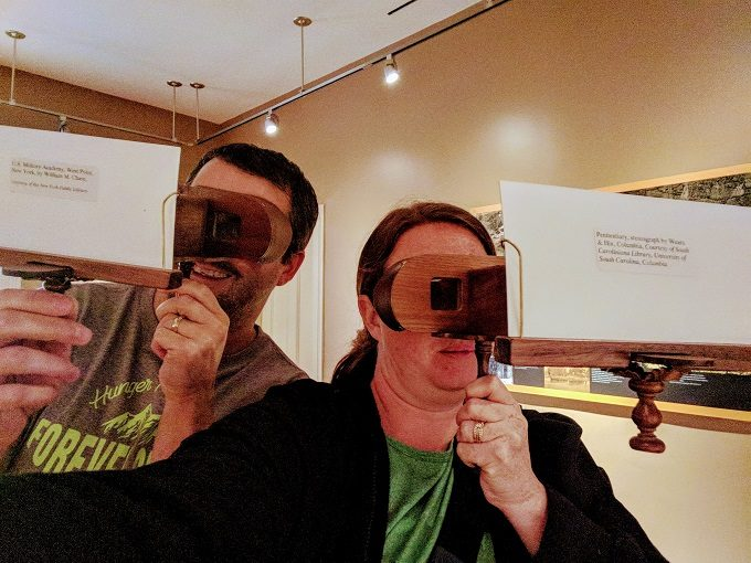 Us checking out some stereoscopes