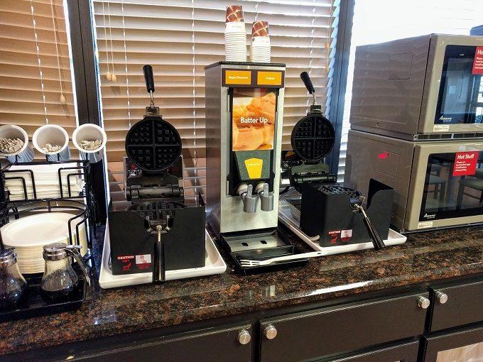 Comfort Inn Greenville SC breakfast - Waffle makers