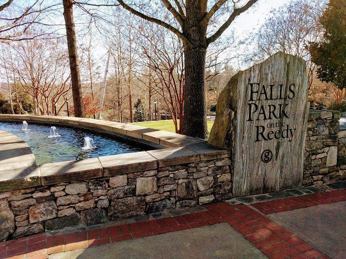 Falls Park On The Reedy entrance