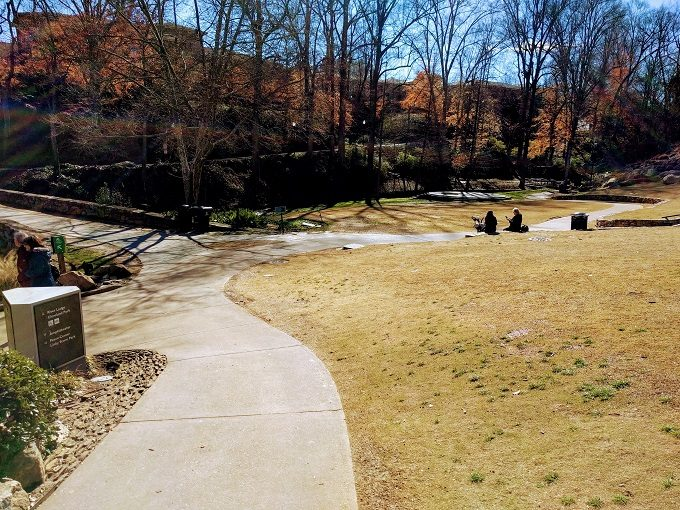 Falls Park On The Reedy paths and grassy areas
