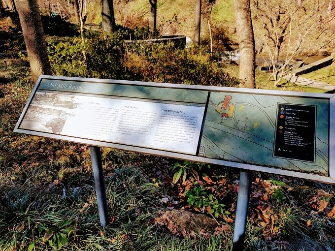 Informational boards at Falls Park On The Reedy