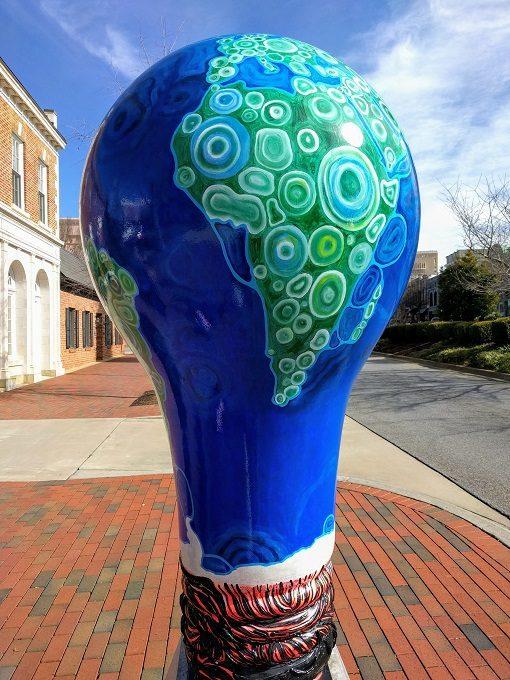 Lighten Up Spartanburg Geobulb by Sharon Passmore