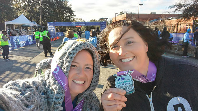 Shae & Kristie at the finish
