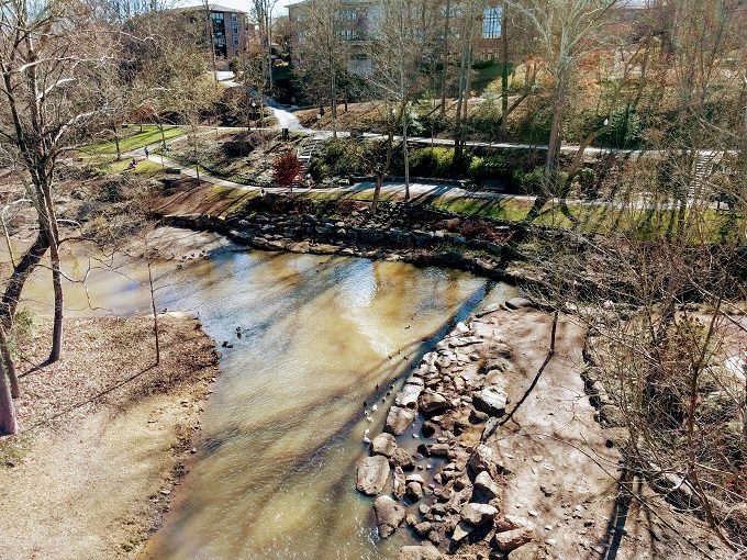 The Reedy River continues this way