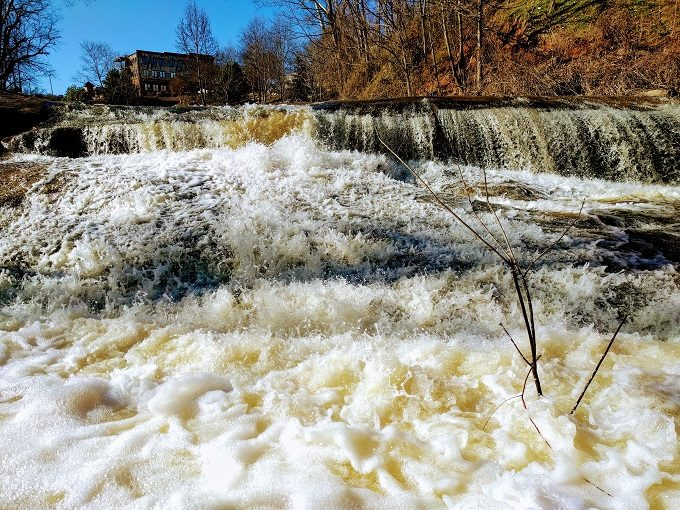 Up close and personal with the Reedy River Falls