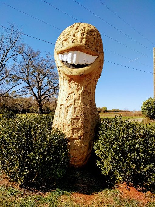 Jimmy Carter Peanut Of Plains Statue, Plains, Georgia